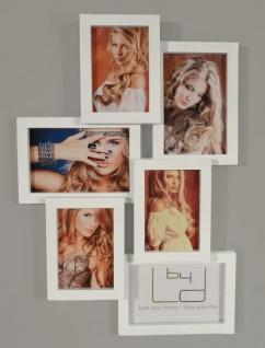 Fotocollage weiß 6 Bilder 3D Optik weiße Fotogalerie Bilderrahmen