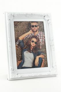 Bilderrahmen für 1 Foto in weiß 10x15 - Barock Landhaus Shabby Antik