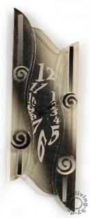 Design Wanduhr 50x16cm Sabbia aus Glas Glasuhr Unikat Handarbeit