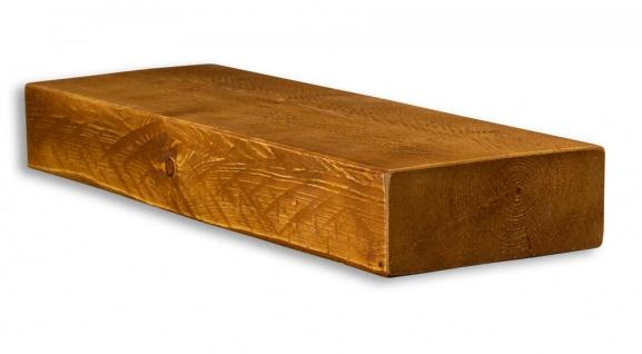 levandeo Wandregal Holz Massiv 60x20cm Teak Farbig Wandboard Regal Vintage Bord - Vorschau 2