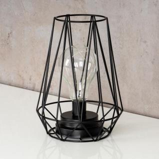 levandeo Tischlampe Metall Schwarz LED 17x24cm Lampe Standleuchte Leuchte Deko - Vorschau 3