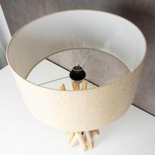 Lampe Tischlampe 62cm Holz Holzlampe Unikat Braun Treibholz Leuchte Deko - Vorschau 5