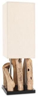 Tischlampe Treibholz B x H x T 16, 5x51, 5x16, 5 Tischleuchte Design Deko