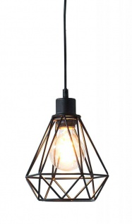 Lampe Hängelampe H20cm Schwarz Deckenleuchte Industrial Design Pendelleuchte