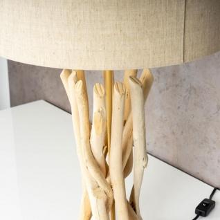 Lampe Tischlampe 62cm Holz Holzlampe Unikat Braun Treibholz Leuchte Deko - Vorschau 4