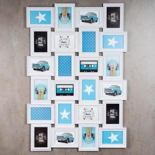 Bilderrahmen in weiß 24 Fotos Barock antik Fotorahmen Collage Galerie - Vorschau 3