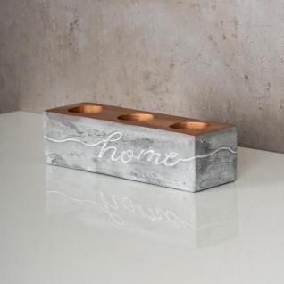 levandeo Teelichthalter Beton Kupfer Home 23x6cm Industrial Kerzenhalter Retro - Vorschau 5