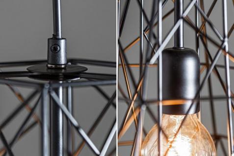 Lampe Hängelampe H30cm Schwarz Deckenleuchte Industrial Design Pendelleuchte - Vorschau 5