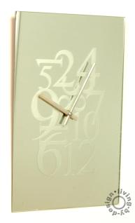 Designer Wanduhr aus Spiegelglas - Hochwertig - Größe Uhr 25x40cm