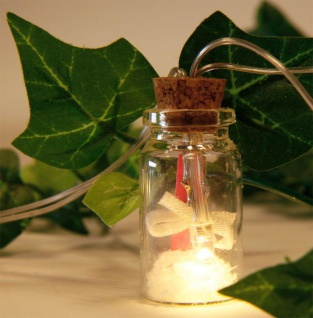 Lichterkette LED Kette Flaschenpost 10 Flaschen Glas Flaschenlicht Beleuchtung - Vorschau 3