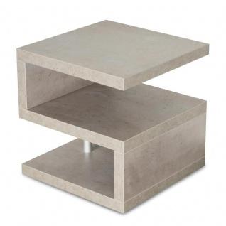 Couchtisch Sigi 44x44x44cm Betonoptik Grau Beistelltisch Ablage Tisch