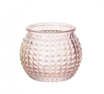 3er Set Windlichter 6x5cm Grün Blau Rosa Glas Deko Frühling Teelichthalter Kerze - Vorschau 4