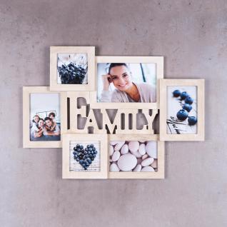 Bilderrahmen Holz 6 Fotos Family 53x38, 5 Fotorahmen Collage Galerie - Vorschau 2