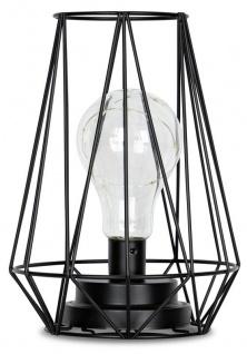 levandeo Tischlampe Metall Schwarz LED 17x24cm Lampe Standleuchte Leuchte Deko