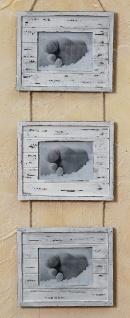 Bilderrahmen 3 Fotos natur gewischt Barock antik zum Aufhängen