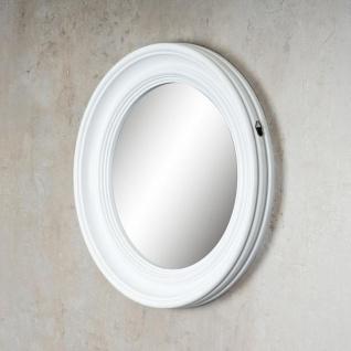 Spiegel 40cm Rund Wandspiegel Flurspiegel Weiß mit Kordel Wanddeko Deko - Vorschau 5