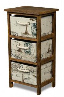 Schrank Holz 58 Cm Hoch Braun Regal Kommode Schrankchen Paris