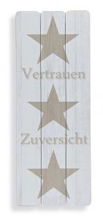 Wandbild Sterne Vertrauen Holz-Bild Stars Wandschild Modern Holzbild