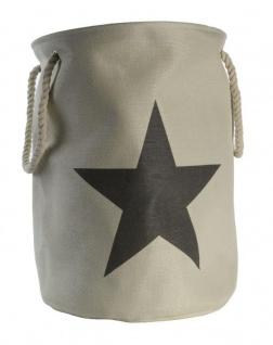 Wäschetonne mit Sternen in Beige Stars Wäschekorb Wäschesack
