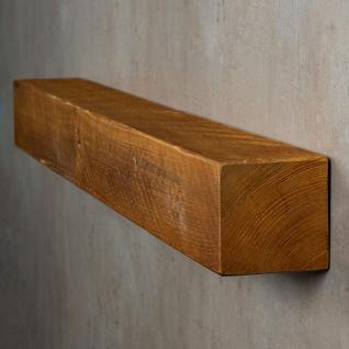 levandeo Wandregal Holz Massiv 100x10cm Teak Farbig Wandboard Regal Vintage Bord - Vorschau 3