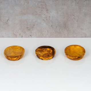 Holzschale Olivenholz ca. 20x12cm Schale Holz Tischdeko Dekoschale Natur Unikat - Vorschau 4