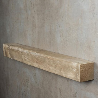 levandeo Wandregal Holz Massiv 100x10cm Shabby Chic Wandboard Regal Vintage Bord - Vorschau 4