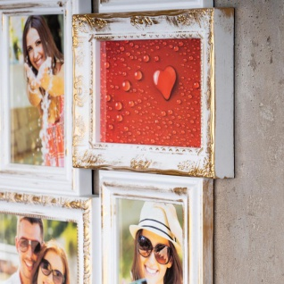 Bilderrahmen weiß gold 24 Fotos Barock Fotorahmen Collage Galerie - Vorschau 4