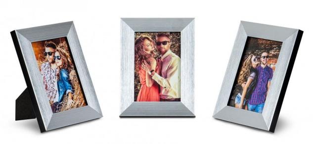 3er Set Bilderrahmen 10x15cm Aluminium Schwarz Fotorahmen Einzelrahmen Tischdeko