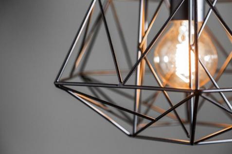 Lampe Hängelampe H30cm Schwarz Deckenleuchte Industrial Design Pendelleuchte - Vorschau 4