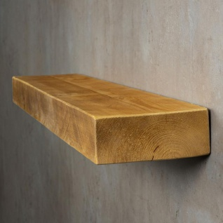 levandeo Wandregal Holz Massiv 100x20cm Eiche Farbig Wandboard Regal Vintage - Vorschau 3