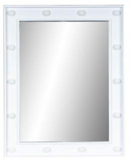 Wandspiegel LED Spiegel Weiß 39x49cm Wanddeko Schminkspiegel Mit Beleuchtung
