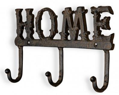 Garderobe Wandgarderobe Home 28x15 Eisen Wanddeko Deko Garten Hakenleiste
