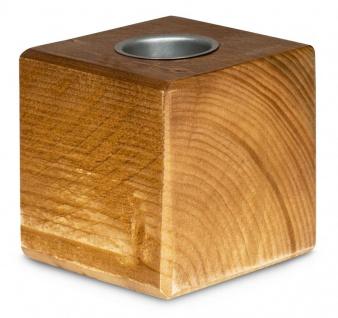 levandeo Teelichthalter Holz Massiv 10x10cm Eiche Farbig Kerzenständer Rustikal