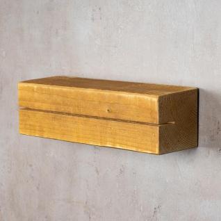 levandeo Schlüsselbrett Holz Massiv 35x10cm Eiche lackiert Schlüsselleiste Board - Vorschau 3