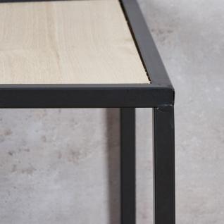 3er Set Beistelltisch Metall Schwarz Holz Cube quadratisch Couchtisch Deko Tisch - Vorschau 5