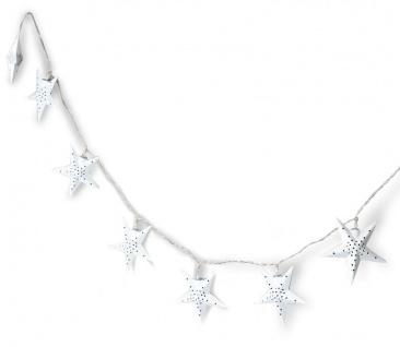 levandeo Lichterkette LED Weiß 10 Sterne Weihnachten Licht Beleuchtung Deko Xmas