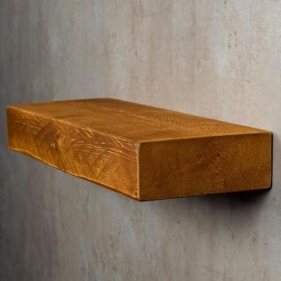 levandeo Wandregal Holz Massiv 60x20cm Teak Farbig Wandboard Regal Vintage Bord - Vorschau 3