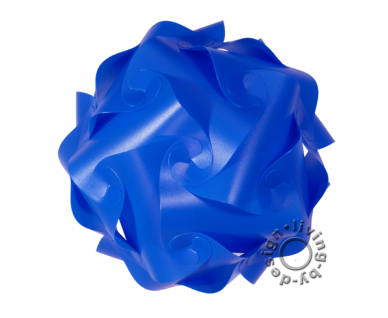 IQ Puzzle Lampe blau XL 42cm Retro Designer Hängelampe Deckenleuchte - Vorschau