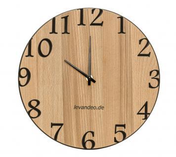 Wand-Uhr Holz 30cm Kernbuche Deutsche Herstellung klassisch Marke