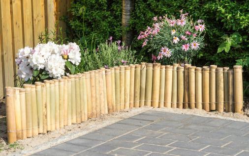 Bambuszaun B x H: 100x30cm Beeteinfassung Rasenkante Steckzaun Garten - Vorschau 4