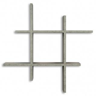 levandeo Hashtag Regal 75x75cm Wandregal Holz Beton-Optik Bücherregal Hängeregal