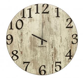 Wand-Uhr Holz 60cm Shabby Chic Deutsche Herstellung klassisch Marke