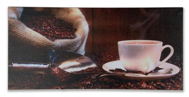 Wandbild 5er Set 86x42cm Leinwand Kaffee Cappuccino Küche Deko Bild - Vorschau 3