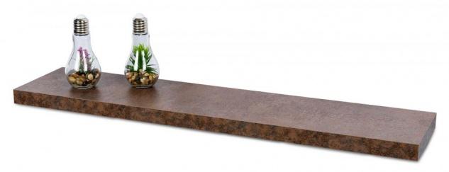 levandeo Wandboard Bobby 100cm Rostoptik Rost Wandregal Regal Board Bücherbord - Vorschau 1