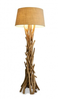 Lampe Stehlampe 155cm Holz Holzlampe Unikat braun Treibholz Leuchte