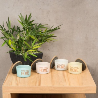 Duftkerzen 4 Stück Rose Cotton Melon Jasmin Holzdeckel Home Kerze Glas - Vorschau 2