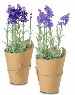 2er Set Kunstblumen Lavendel Je H34cm Zimmerpflanze Violett Deko Tischdeko