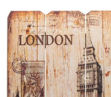 Holzbild Holzschild London BigBen Schild Wandbild Dekoschild Vintage - Vorschau 2
