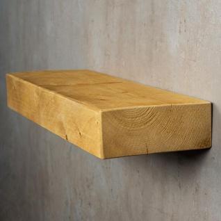 levandeo Wandregal Holz Massiv 60x20cm Eiche Farbig Wandboard Regal Vintage - Vorschau 3