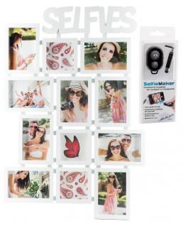 Selfie Bilderrahmen Weiß 12 Fotos Fotorahmen Fotogalerie Collage